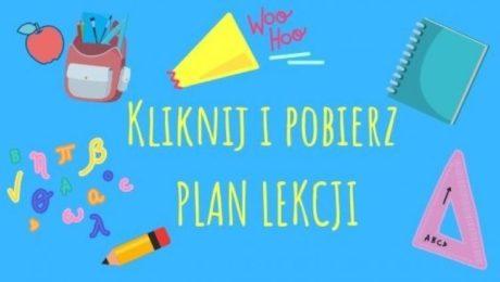Plan lekcji i zajęć dodatkowych w nowym roku szkolnym 2020/2021